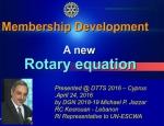 rotary, membership, lebanon, development, equation, jazzar